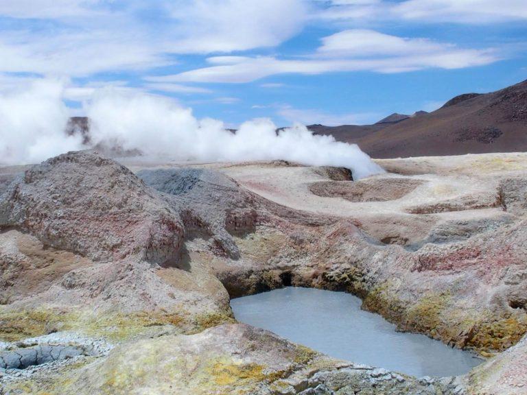 Bolivie Andes geyser