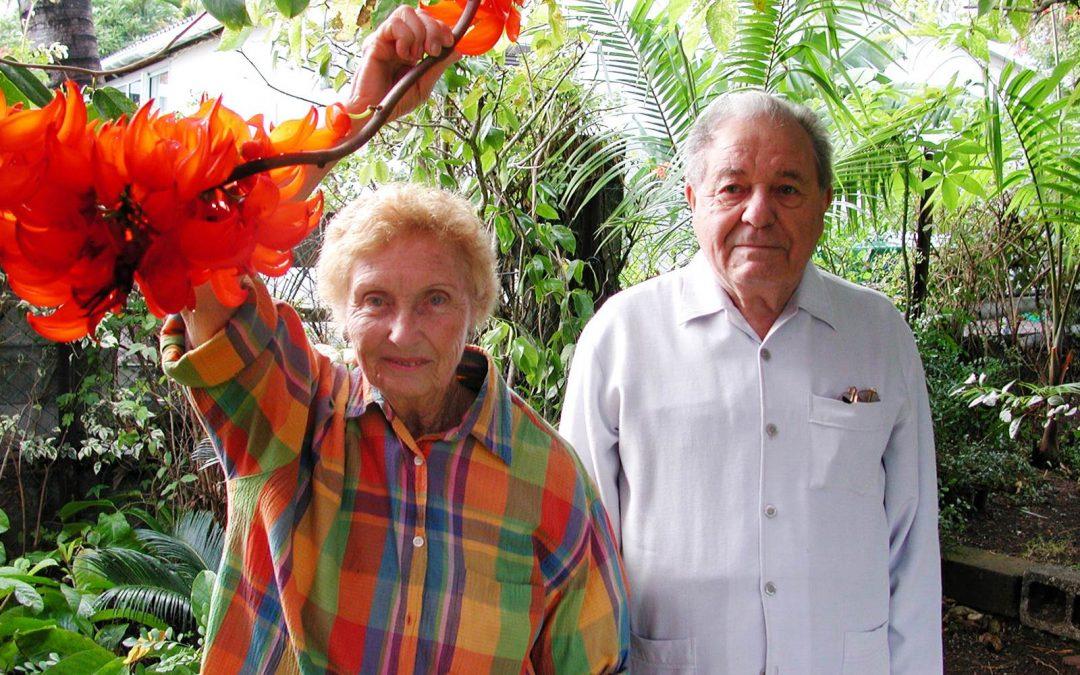 Valère et Odette Roche, fleuristes à la Réunion