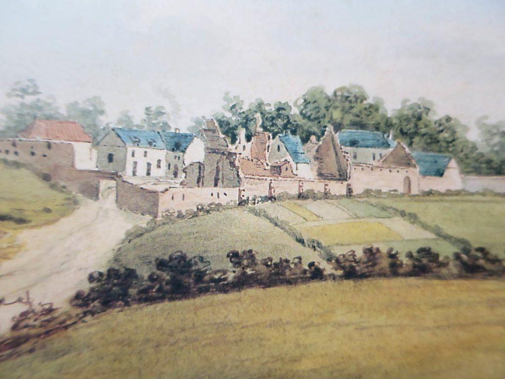 Hougoumont vue des ruines (c) Musée Wellington