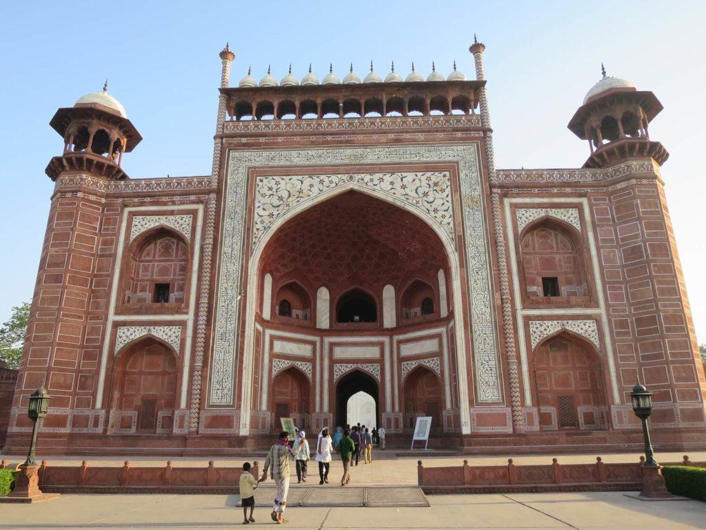 Agra Taj Mahal portail entrée