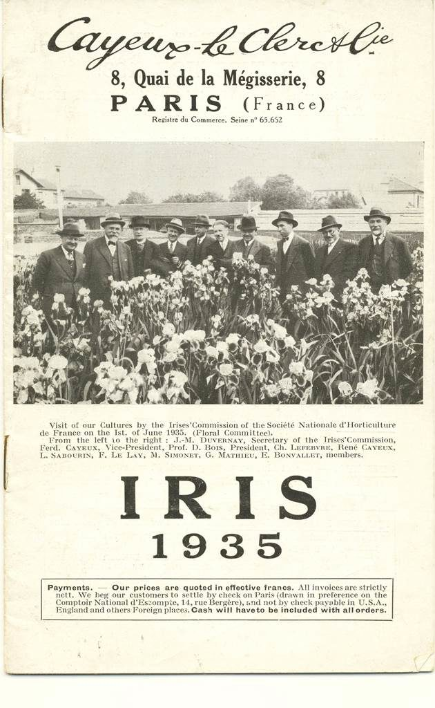 Iris Cayeux catalogue ancien