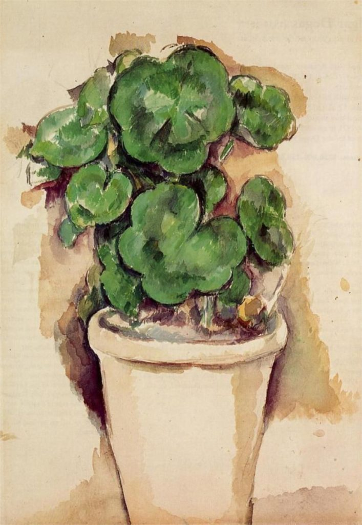 Paul Cézanne Pot de géranium