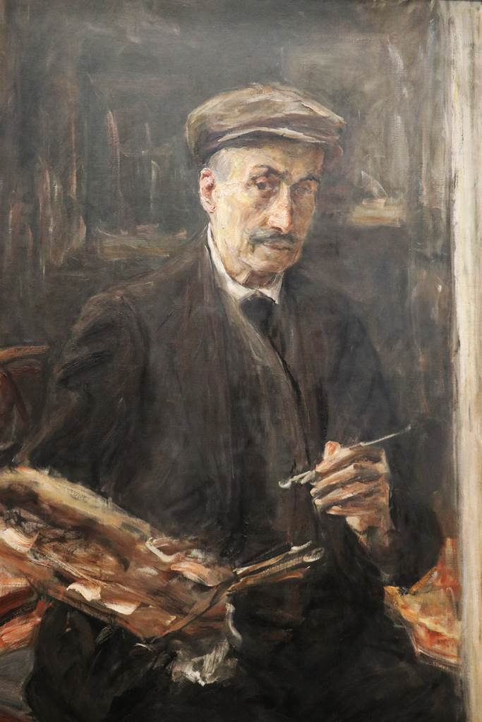 Max Liebermann, Self portrait with Sports Cap at the Easel, 1925