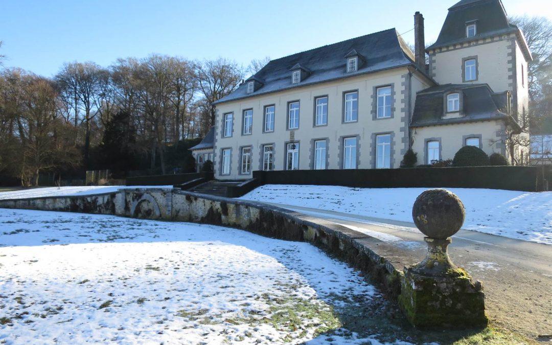 La poésie de l'Abbaye d'Aywiers en hiver