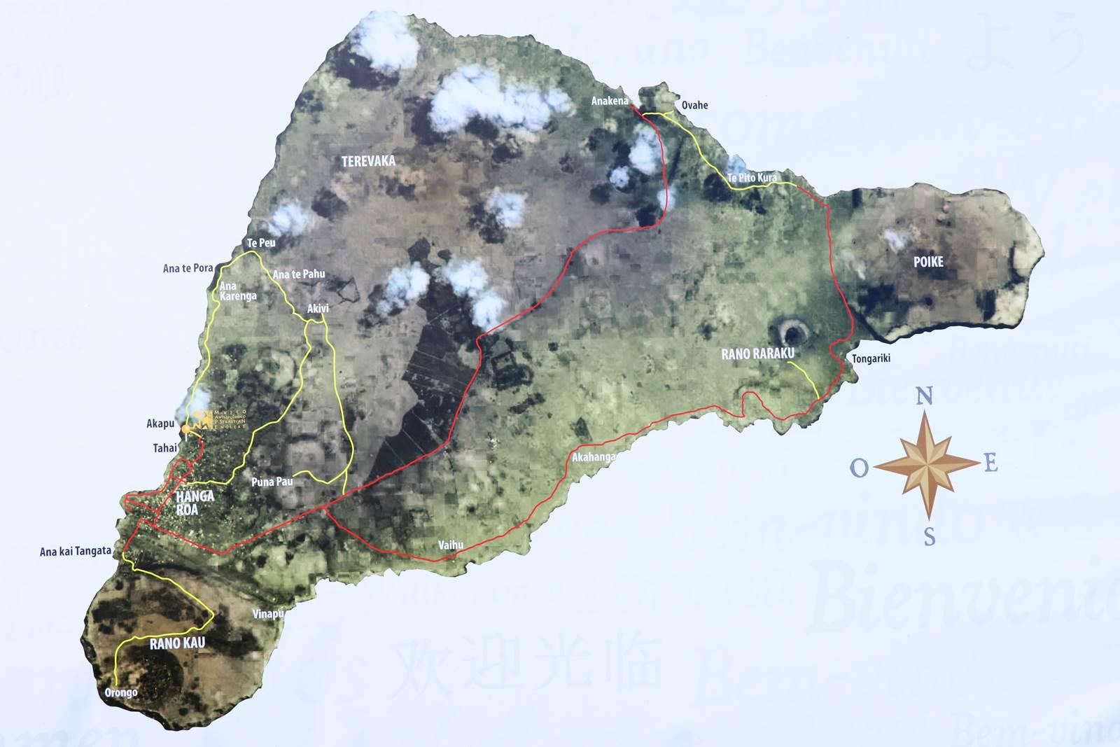 Ile de Paques carte
