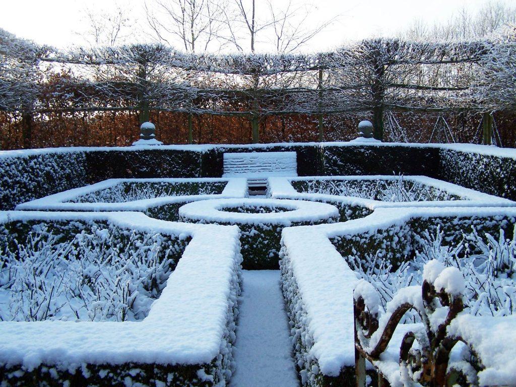 Jardin neige Alain Dor
