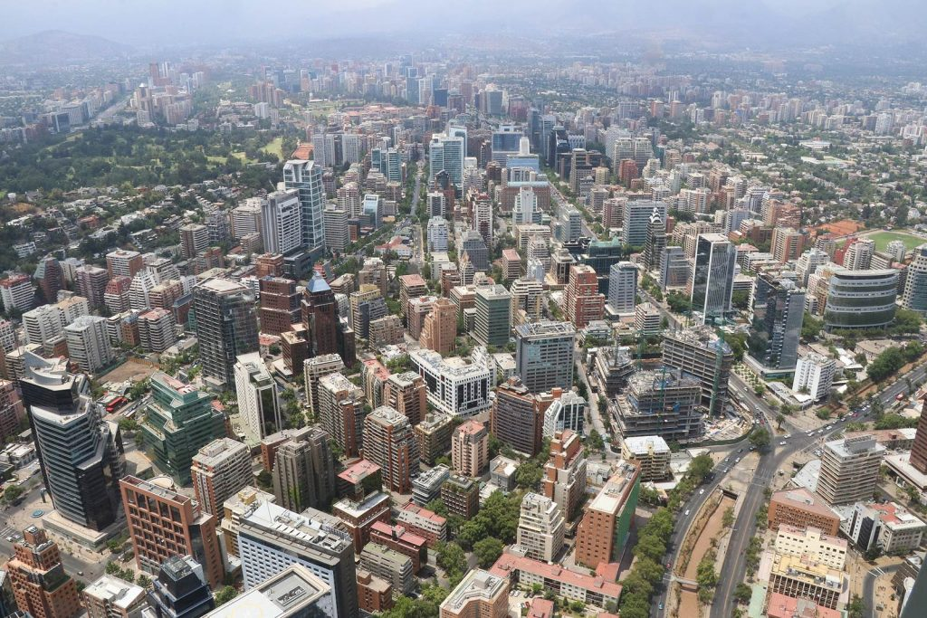 Santiago du Chili vue de la Gran Torre