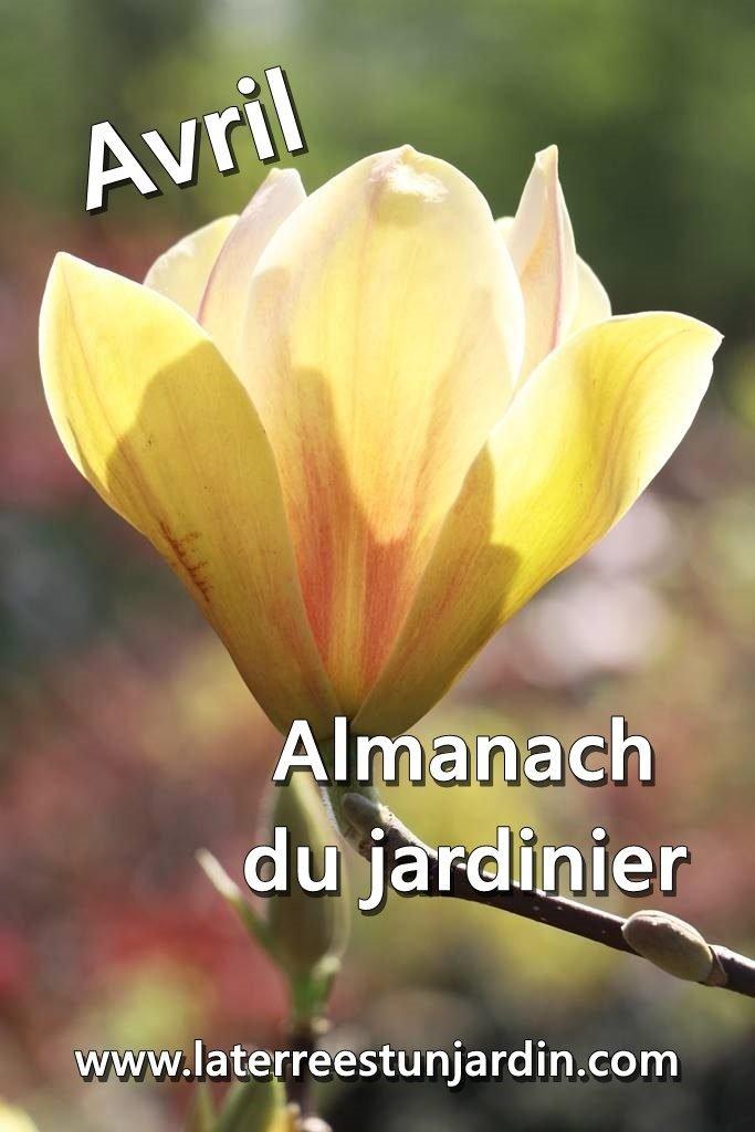 Almanach du jardinier Avril