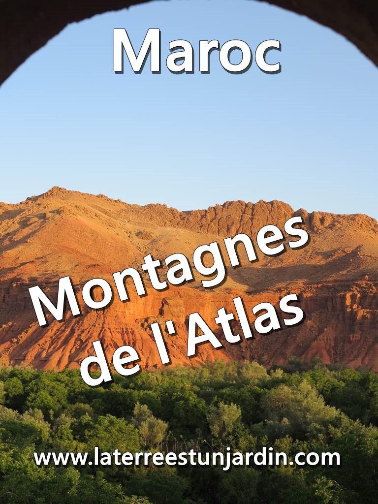 Montagnes de l'Atlas Maroc