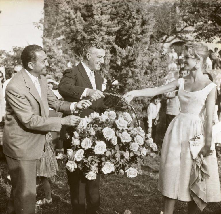 Francis Meilland, Vittorio de Sica et Brigitte Bardo