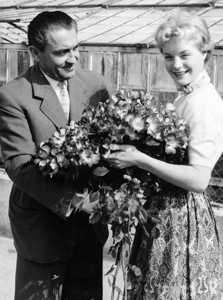 Francis Meilland et Romy Schneider