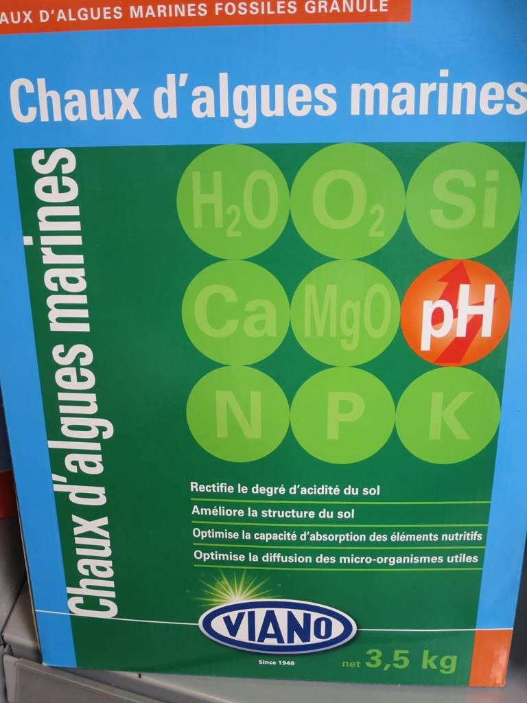 Chaux d'algues marines