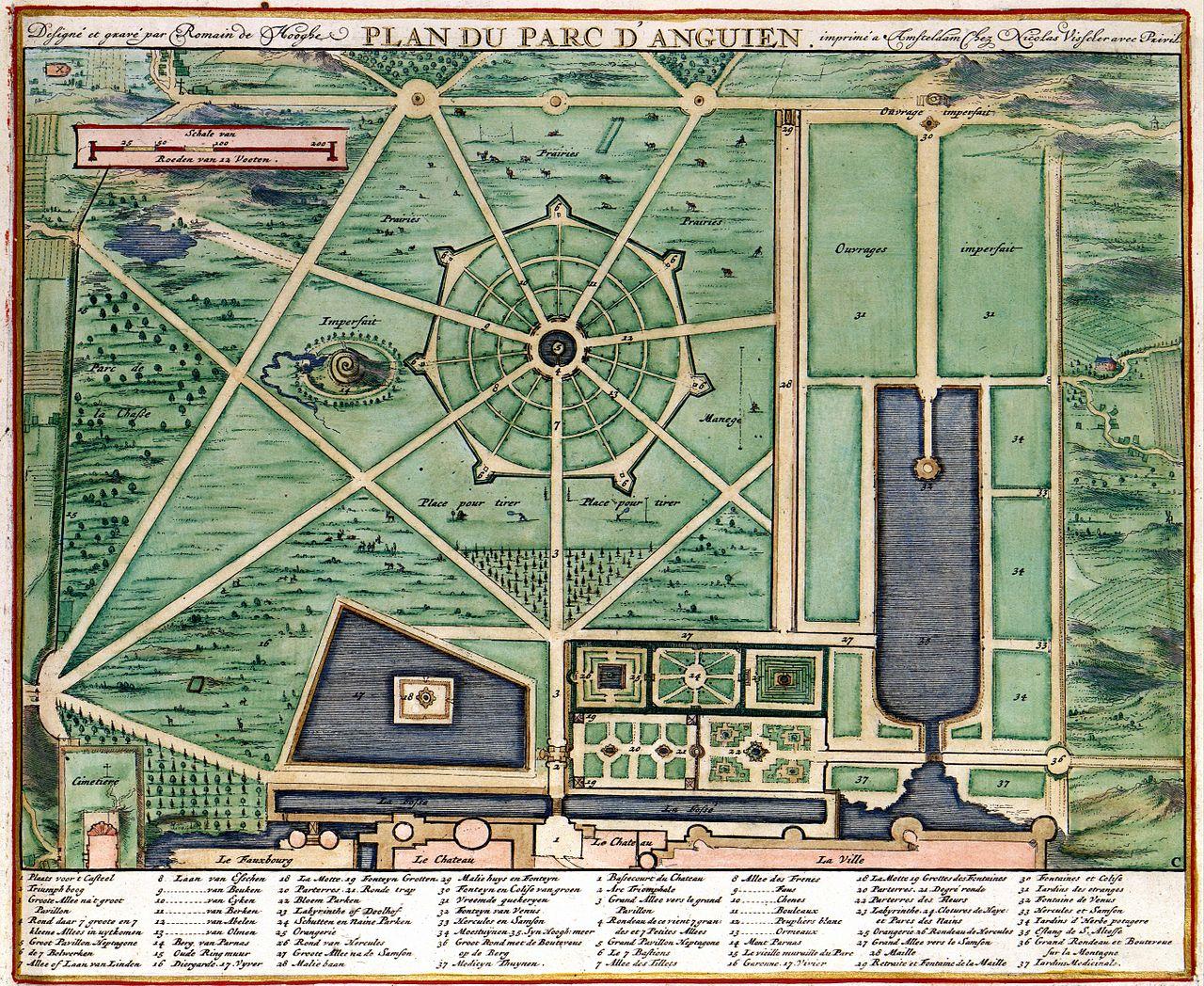 Carte du Parc d'Enghien